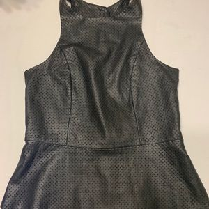 Express leather like top new no tags